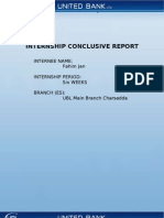 United Bank Limited Internship Report 2010 Final