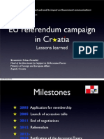 EU referendum campaign in Croatia - Lessons learned