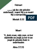 Schriftteksten FEB - DEC 2012