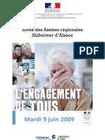 Actes des Assises régionales Alzheimer Alsace ( juin 2009)