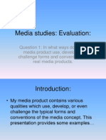 Media Studies Evaluation 1