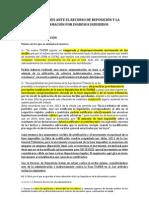 EXPLICACIONES ANTE EL RECURSO DE REPOSICIÓN Y LA RECLAMACIÓN POR INGRESOS INDEBIDOS