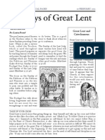Sundays of Great Lent