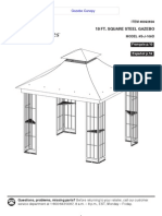 10 Ft. Square Steel Gazebo Assembly Manuals