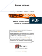 Manual Instalare Incalzire Electrica in la Termo3500