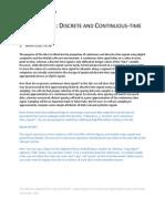Laboratory 1 Discrete and Continuous-Time Signals