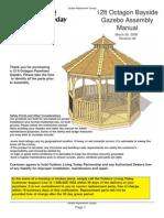 12 Ft. Octagon Bayside Gazebo Assembly Manual