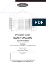 Bay Window Gazebo Assembly and Instructions Manual