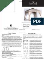 Garden Pop Up Gazebo-Assembly and Instruction Manuals