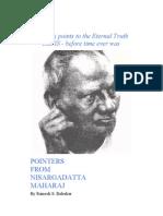 Pointers From Nisargadatta Maharaj
