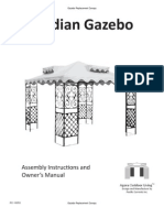 Palladian Gazebo Assembly Instructions and Owner's Manual
