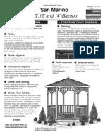 San Marino 10',12' and 14' Gazebo Assembly and Instructions Manual