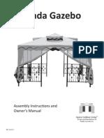 Veranda Gazebo Assembly Manual