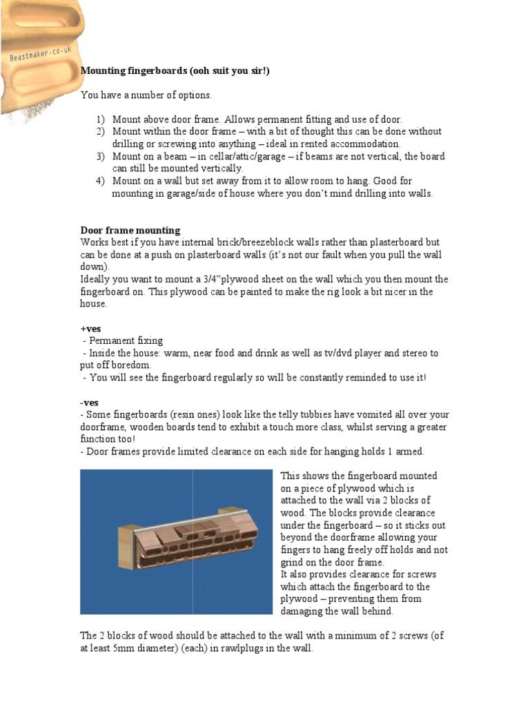 Mounting Fingerboards | Screw | Building Engineering
