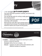 Exam Language Chem