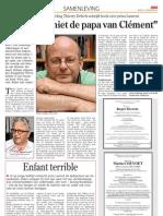 Interview Thierry Debels over Laurent in de Krant van West-Vlaanderen