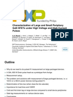 Characterization of Large and Small Periphery GaN HFETs Under High Voltage and High Current Pulses
