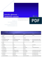 Jewelry Glossary in 4 languages