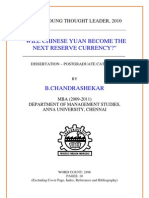 Will Chinese Yuan Become the Next Reserve Currency Chandrashekar 2 1