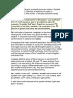 Dip Sales of Dell