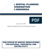 National Spatial Planning Coordination in Indonesia