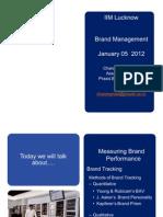 IIM Lucknow - Brand Management - January 05, 2012