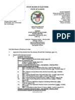 Illinois State Board of Elections Agenda 02-22-12 Agenda