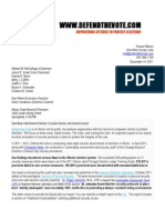 12-14-11 Letter to the Illinois Board of Elections Advising of Defend The Vote Audit