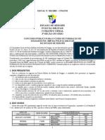 Edital Concurso Da PM de 2005 (Sergipe)