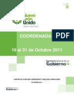 Coordenadas Segunda Quincena Octubre 2011