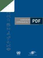 code mondial d éthique du tourisme (printed)