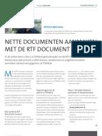 Nette documenten aanmaken met de RTF Document Creator