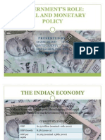 Govt Role in Fiscal and Moteray Policy