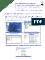 3G Data Card Installation 1