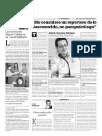 """Entrevista a Alberto Cerezuela en """"La Voz de Almería"""""""