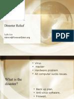 Disaster Relief - Cs