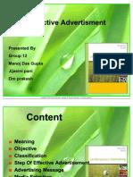 Effective Advertisement