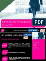 Baromètre des préoccupations des Français - février 2012