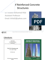 Lecture #1 Design of Reinforced Concrete Structures