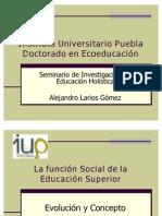 La función social de la educación superior