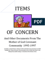 """Items of Concern"" And Other Historical Documents from Mother of God 1995-1997"