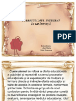 Curriculum_integrat in Gradinite