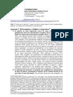 Globalización, Políticas Fiscales y Rebosamientos (FMI 2008)