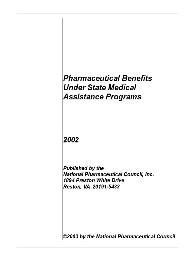 Pharmaceutical Benefits Under State Medical Assistance Programs, 2002 |  Medicaid | Medicare (United States)