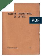 Bulletin International de L'Étoile N°1 Octobre 1930 par Krishnamurti