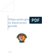 Rural vs Urban Growth