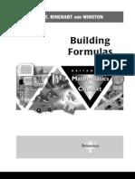 Building Formulas 2003 SE