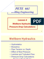 4. Wellbore Hydraulics, Pressure Drop Calculations