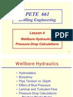 4. Wellbore Hydraulics, Pressure Drop Calculations