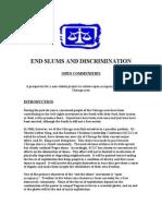 end slums and discrimination goal